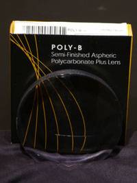 Poly-B Semi-Finished Aspheric Flat-Top