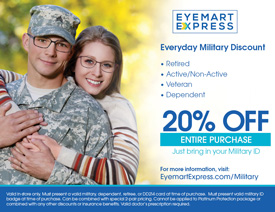 "580ef4e95fc ... DALLAS—Eyewear retailer Eyemart Express has announced a new ""thank you""  program to show appreciation to veterans"