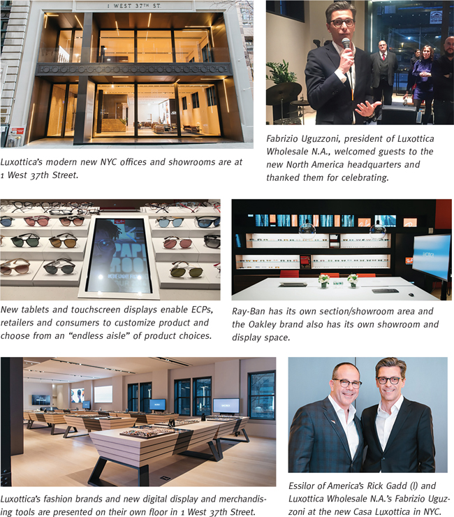 Luxottica Unveils New HQ and Showroom in New York City